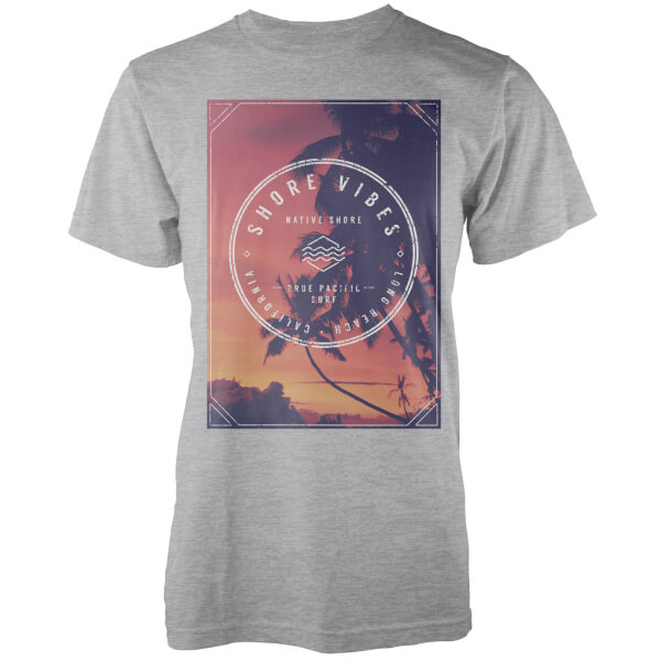 Native Shore Men's Sunset Shore Graphic T-Shirt - Light Grey Marl