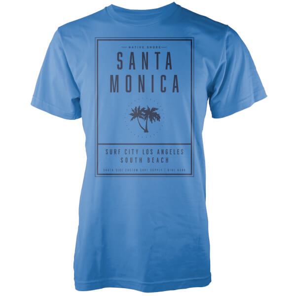 Native Shore Men's Santa Monica LA T-Shirt - Blue