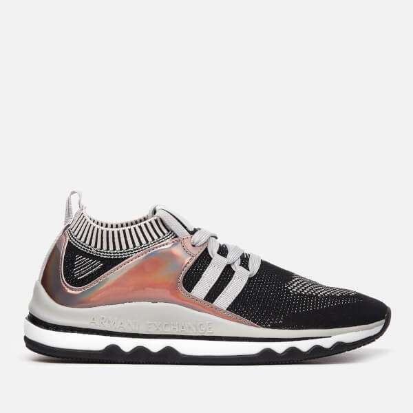 Armani Exchange Women's Knit Runner Trainers - Black