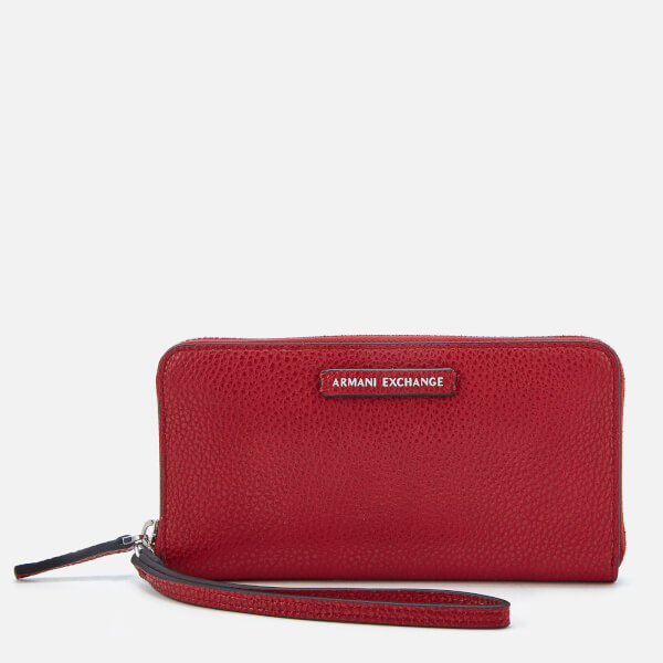 Armani Exchange Women's Wristlet Wallet - Royal Red