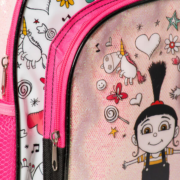 Despicable Me 3 Glitter Backpack Pink Mens Accessories