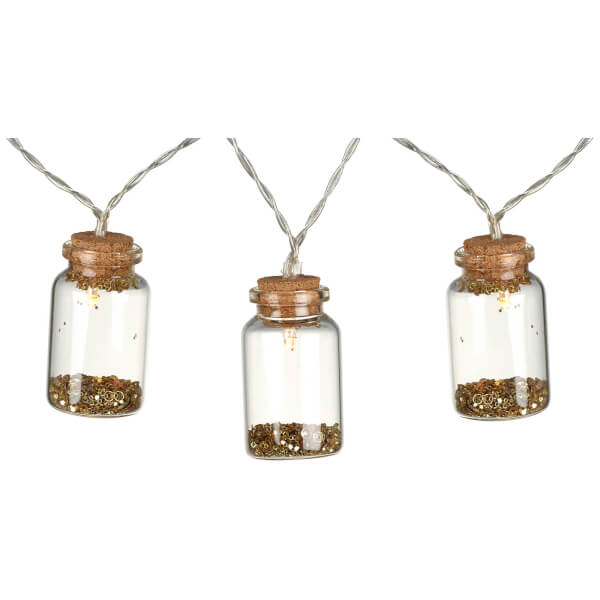 Parlane LED Bottle Light Garland (10 Lights) - Gold