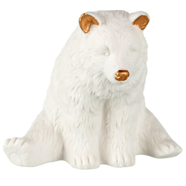 Parlane Paignton Ceramic Polar Bear Decoration (8 x 10cm) - White