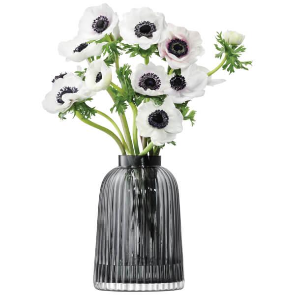 LSA Pleat Vase - 20cm - Grey