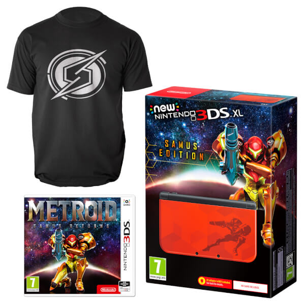 New Nintendo 3DS XL Samus Edition + Metroid: Samus Returns + T-Shirt (L)