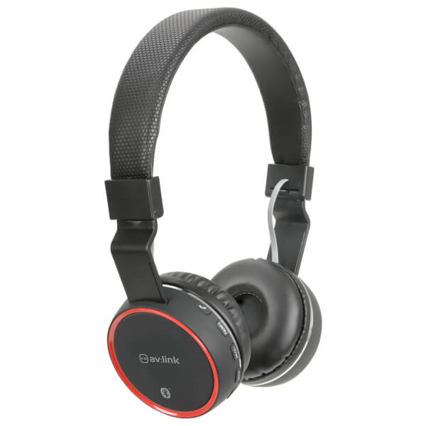 AV: Link Wireless Bluetooth On-Ear Noise Cancelling Headphones (With Built-in FM Radio) - Black