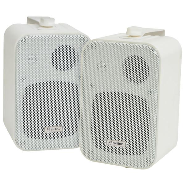 AV: Link 3 Way Background 30W Stereo Speakers - White