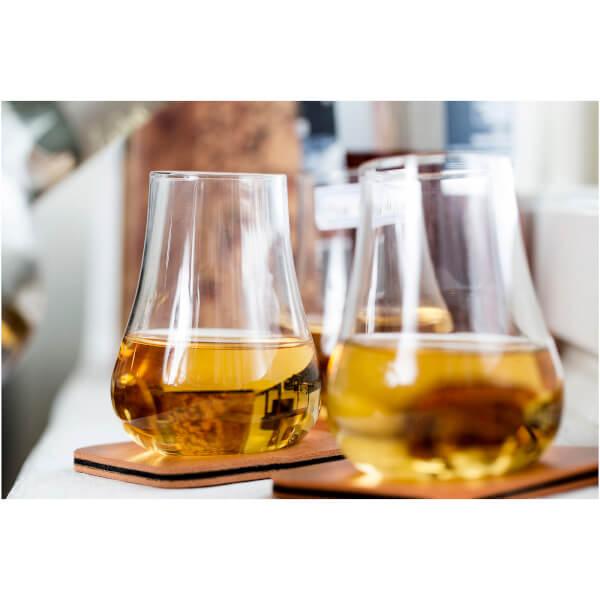 Sagaform Club Whiskey Tasting Gift Set - Set of 2 Coasters and Glasses