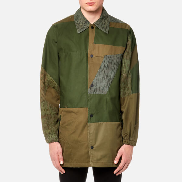Maharishi Men's Upcycled Coach Jacket - Olive