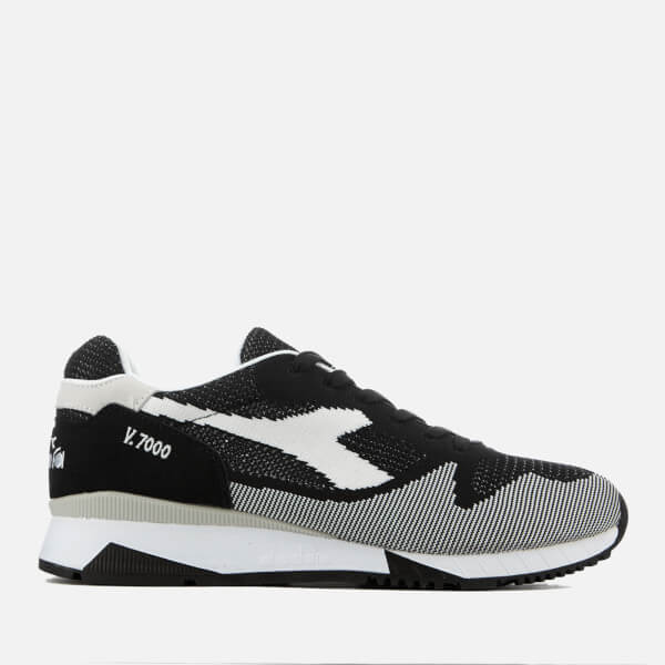 Diadora Men's V7000 Weave Trainers - Black/White