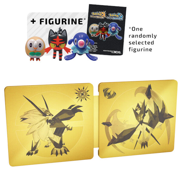Pokémon Ultra Sun and Ultra Moon Dual Fan Edition + Figurine