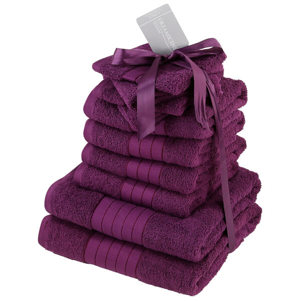 Highams 100% Cotton 10 Piece Towel Bale (500GSM) - Purple
