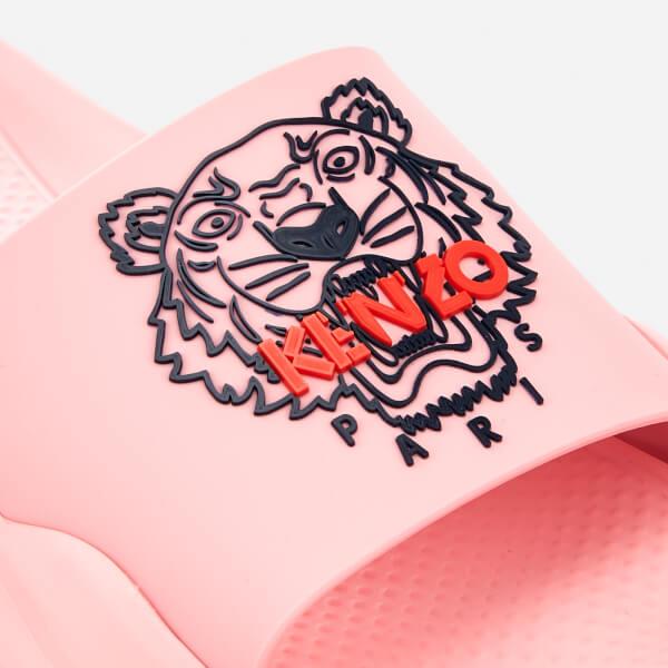 1e45662d44af KENZO Women s Tiger Logo Slide Sandals - Flamingo Pink  Image 3