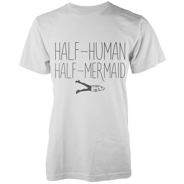 Half-Human, Half-Mermaid T-Shirt - White