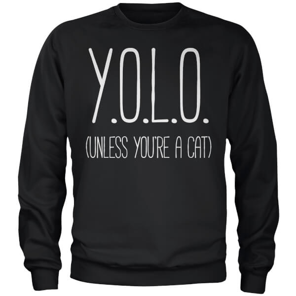 YOLO (Unless You're a Cat) Sweatshirt - Black