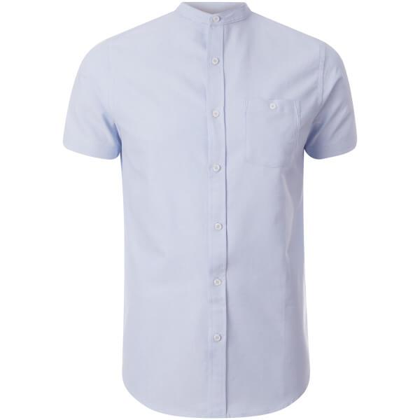 Brave Soul Men's Tribune Short Sleeve Shirt - Light Blue
