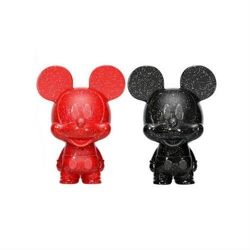 Disney Mickey Mouse Red and Black Hikari XS Vinyl Figure 2 Pack
