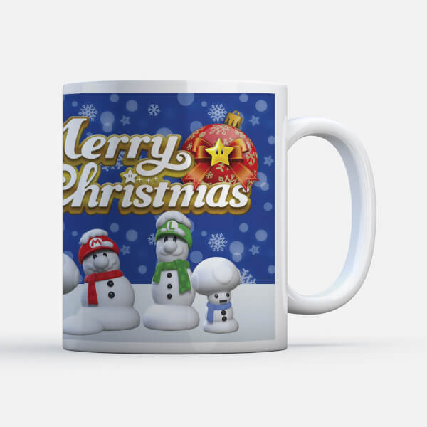 Nintendo Super Mario Snowmen Characters Mug