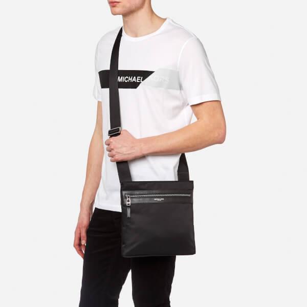 2932bc410663 Michael Kors Men's Kent Flat Cross Body Bag - Black: Image 3