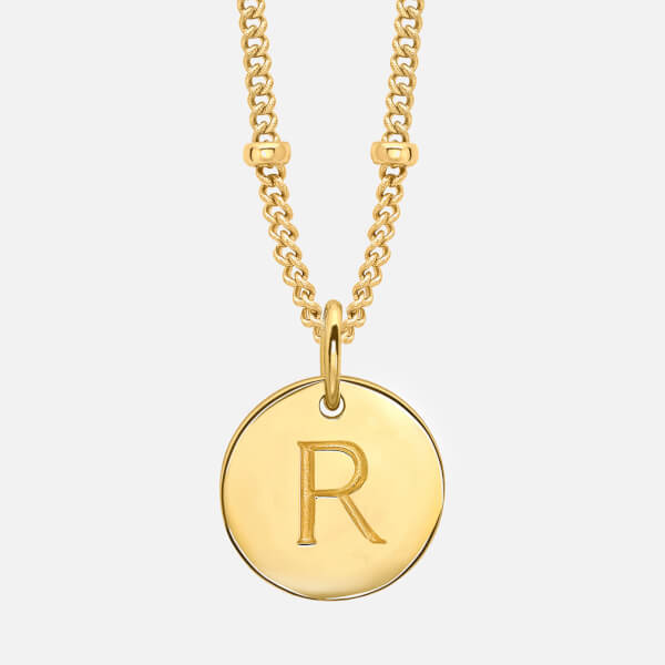 Missoma Women's 'R' Initial Necklace - Gold