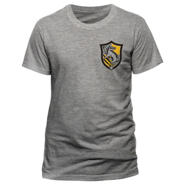 Harry Potter Men's House Hufflepuff T-Shirt - Grey
