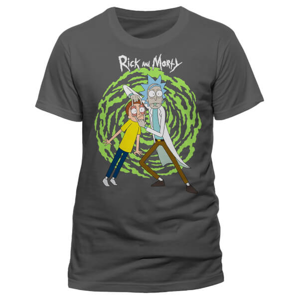 Rick and Morty Men's Spiral T-Shirt - Grey