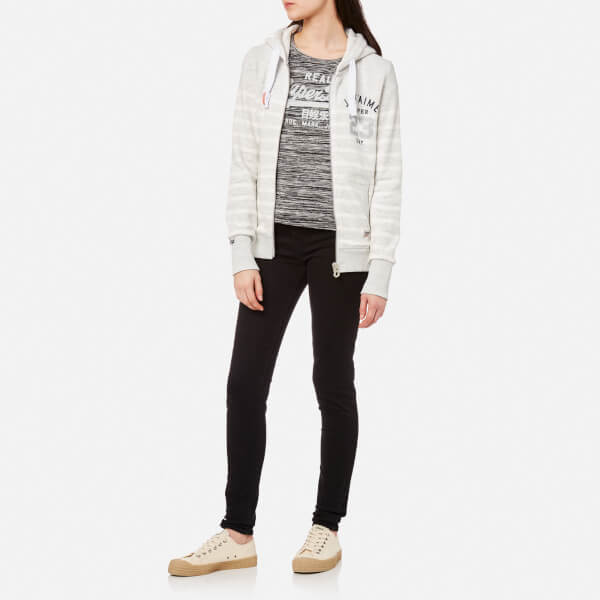 Superdry Women's Je T'Aime Bretton Zip Hoody - Ice Marl: Image 21