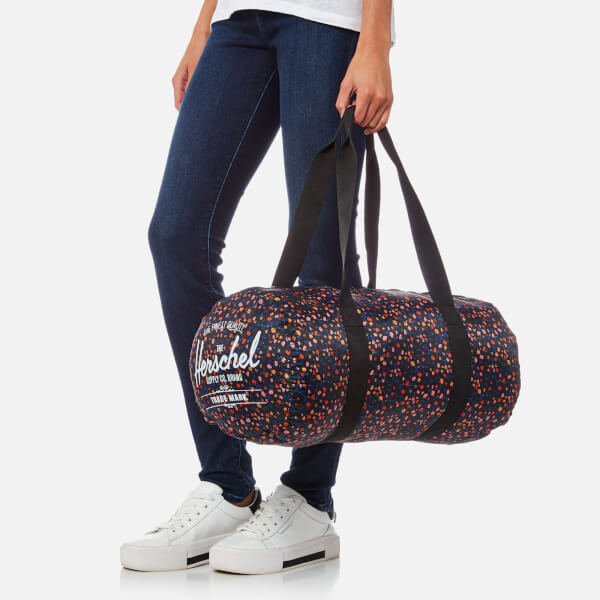 b2ef7ac81ae Herschel Supply Co. Women s Packable Duffle Bag - Black Mini Floral  Image 3
