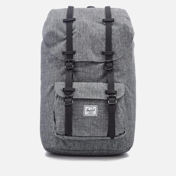 1accffd68a8 Herschel Supply Co. Men s Little America Backpack - Raven Crosshatch Black  Rubber  Image