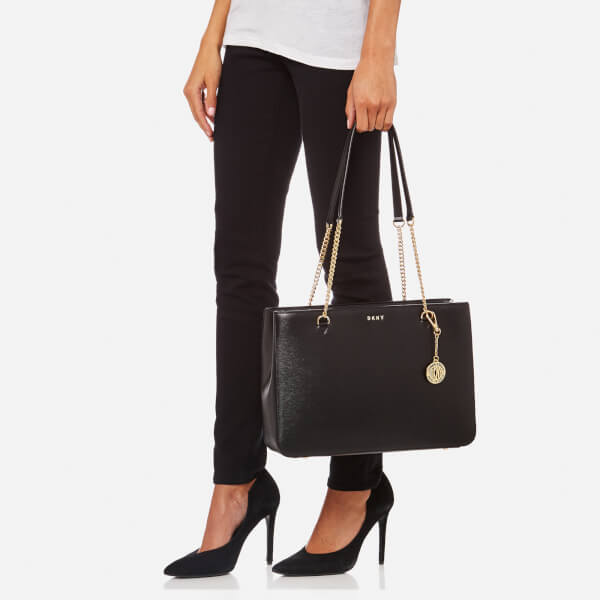 DKNY Women's Bryant Large Shopper Tote Bag - Black: Image 21