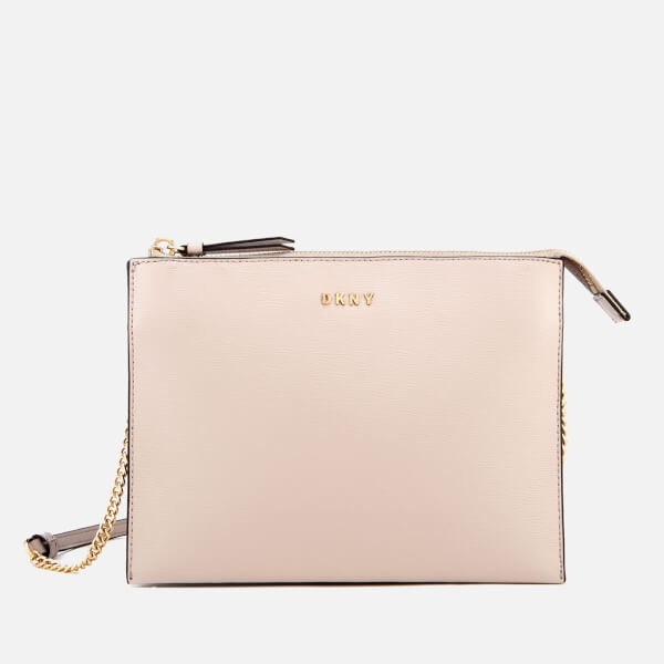 DKNY Women's Bryant Flat Top Zip Cross Body Bag - Carnation