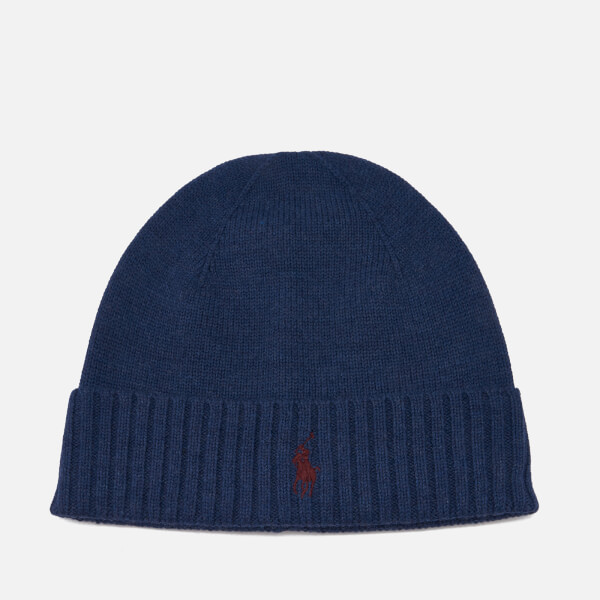 d61c3f4d5 Polo Ralph Lauren Men s Merino Wool Beanie Hat - Shale Blue Heather  Image 1