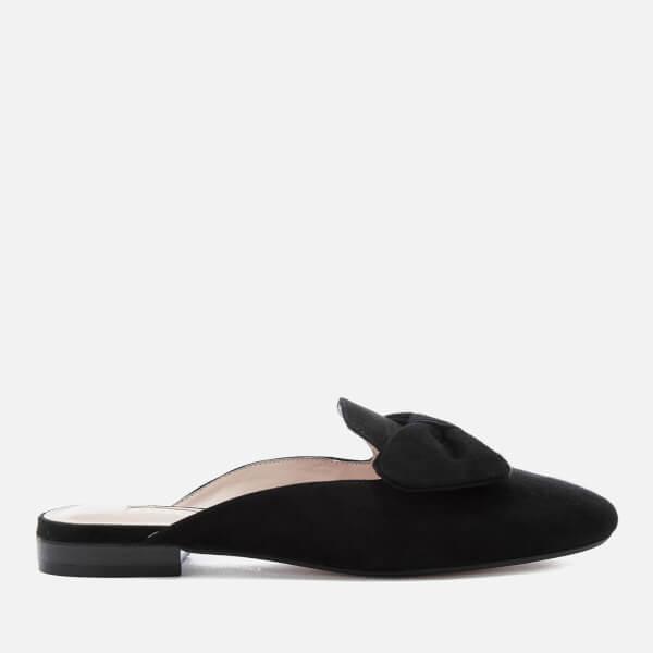 Dune Women's Genela Suede Slide Flats - Black