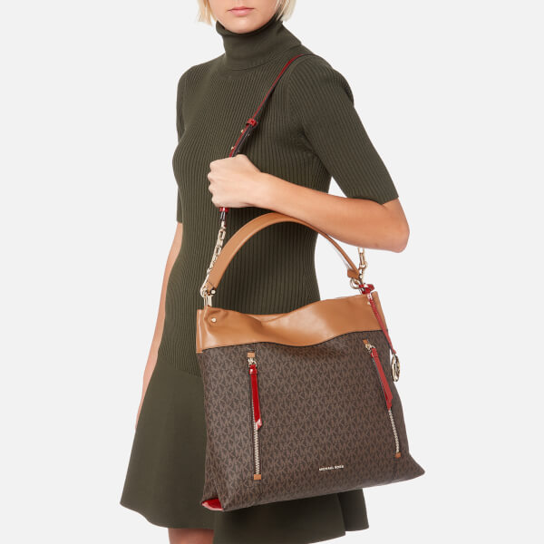 Michael Kors Women S Lex Large Hobo Bag Signature Image 3