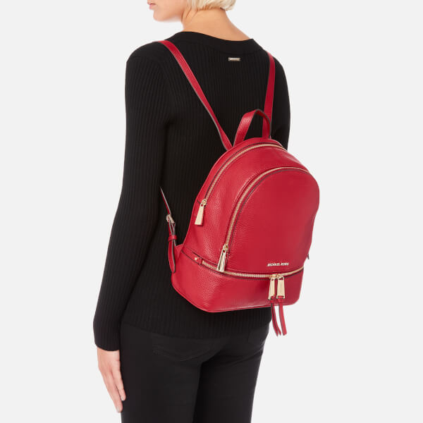 53fa57b7675e MICHAEL MICHAEL KORS Women s Rhea Zip Medium Backpack - Bright Red  Image 3