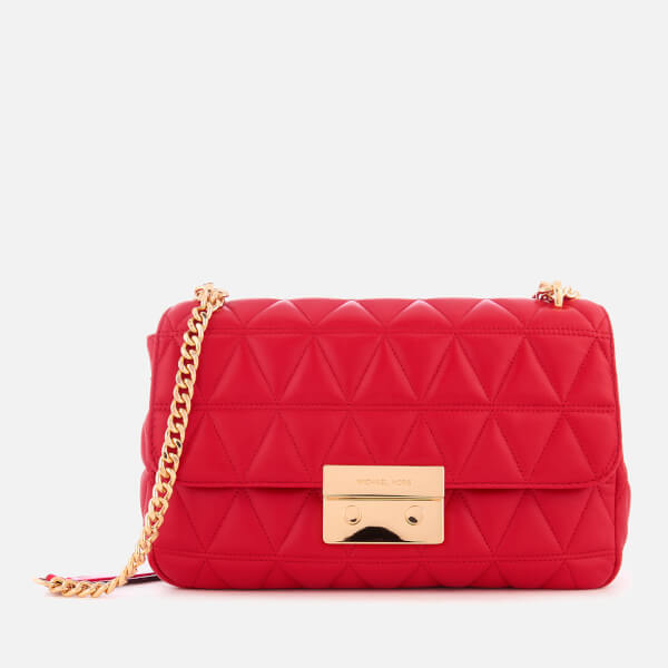 a448c37fd908 MICHAEL MICHAEL KORS Women s Sloan Large Chain Shoulder Bag - Bright Red   Image 1