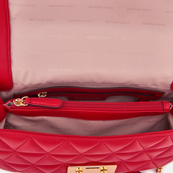3cd23806d19ba7 MICHAEL MICHAEL KORS Women's Sloan Large Chain Shoulder Bag - Bright Red:  Image 5