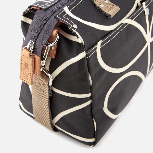 Orla Kiely Women s Giant Linear Stem Messenger Bag - Liquorice  Image 4 ffd25c71ad