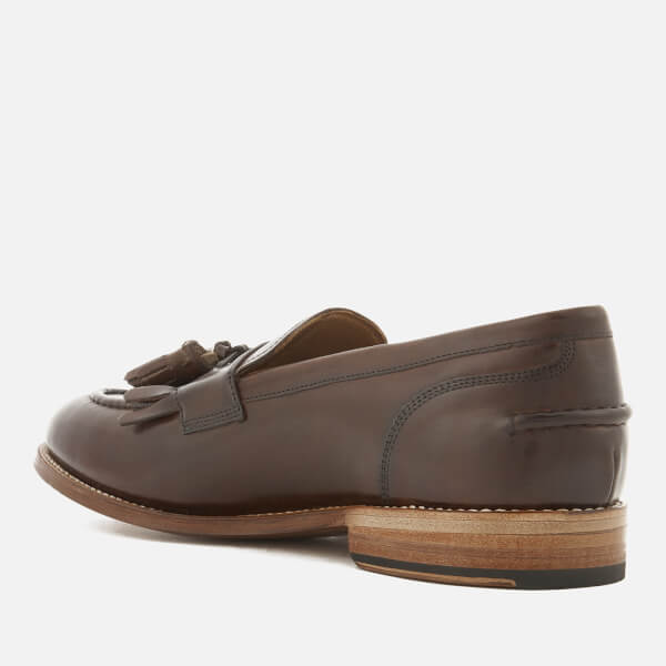 b7f884741d0 Grenson Men s Mackenzie Hand Painted Leather Tassel Loafers - Dark Brown   Image 4