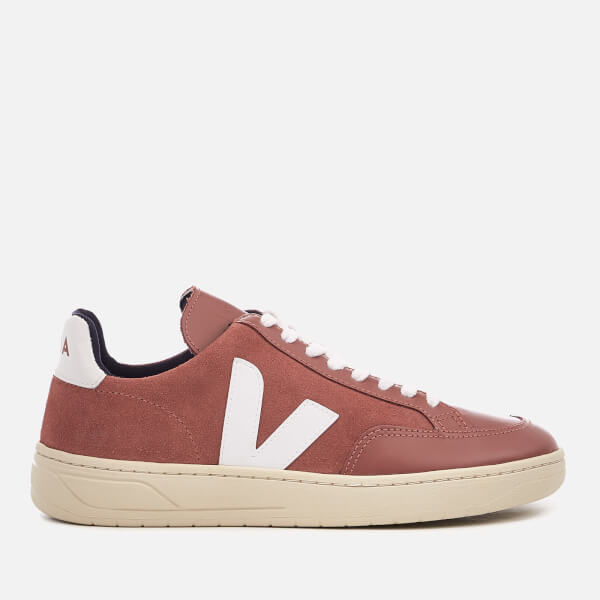 Veja Women's V12 Suede Trainers - Dried Petal/White