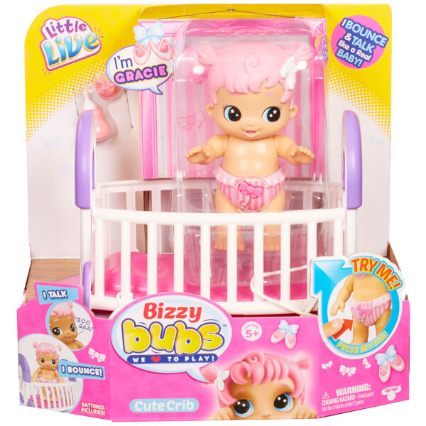 Little Live Bizzy Bubs Cute Crib - Series 1