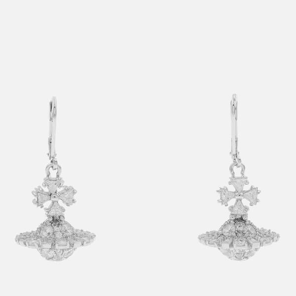 Vivienne Westwood Women's Irina Orb Earrings - White Cubic Zirkonia