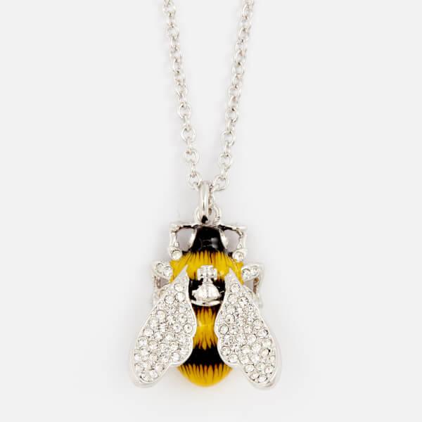 Vivienne Westwood Women's Bumble Pendant Necklace - White Crystal