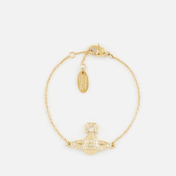 Vivienne Westwood Women's Minnie Bas Bracelet - White Crystal