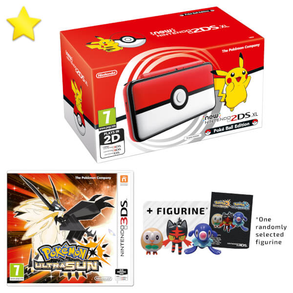 New Nintendo 2DS XL Poké Ball Edition + Pokémon Ultra Sun Pack