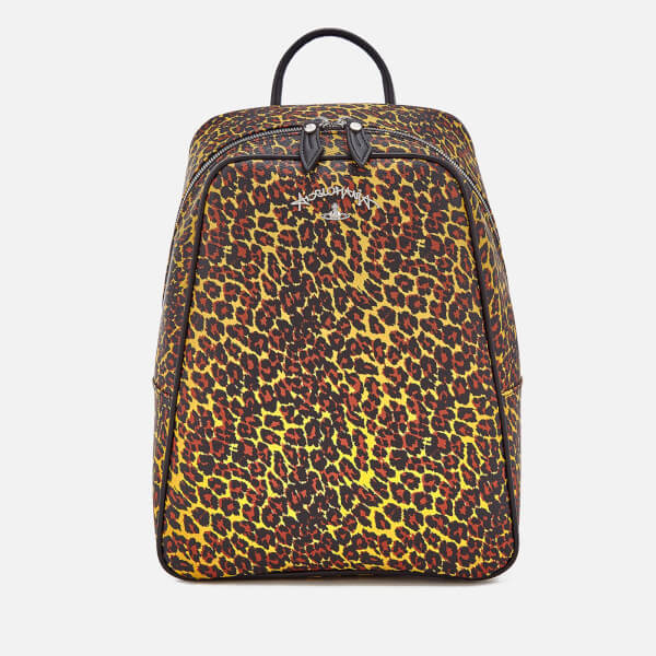 Vivienne Westwood Women's Leopard Backpack - Yellow Leopard