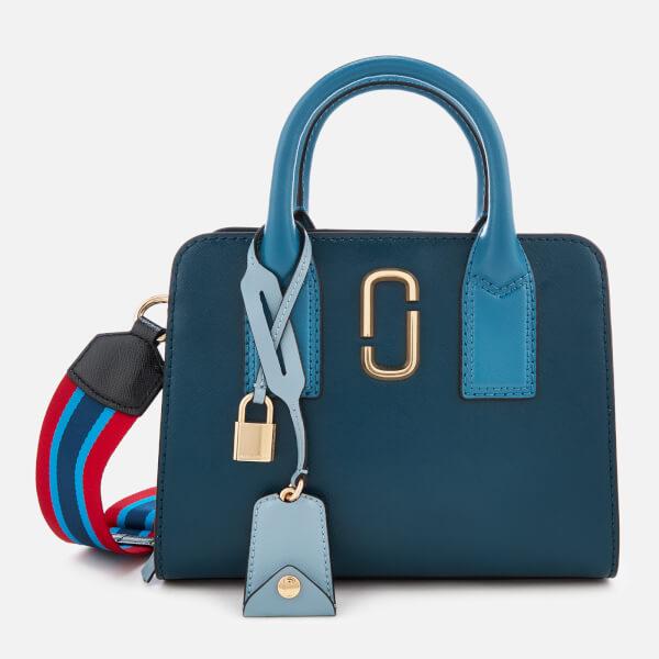 b731c923e79b Marc Jacobs Women s Little Big Shot Tote Bag - Blue Sea Multi  Image 1