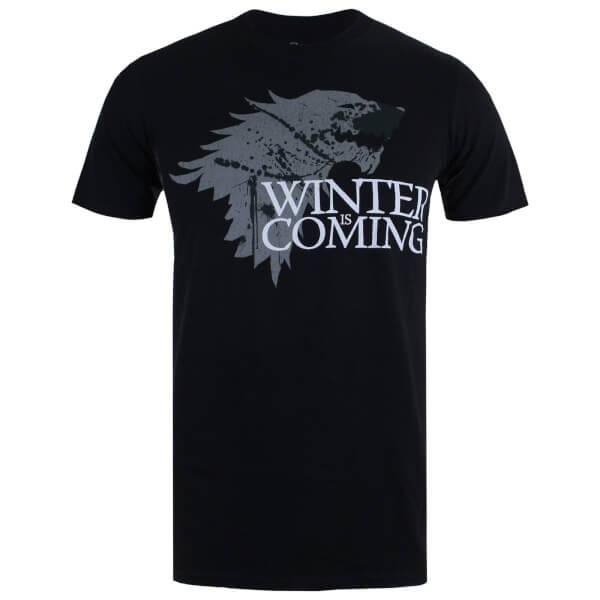 Game of Thrones Men's Winter is Coming T-Shirt - Black