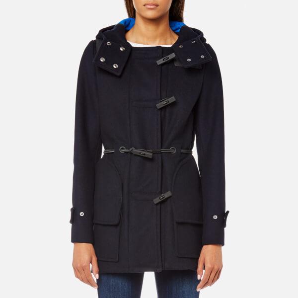Hunter Women's Original Bonded Wool Duffle Coat - Navy - Free UK ...