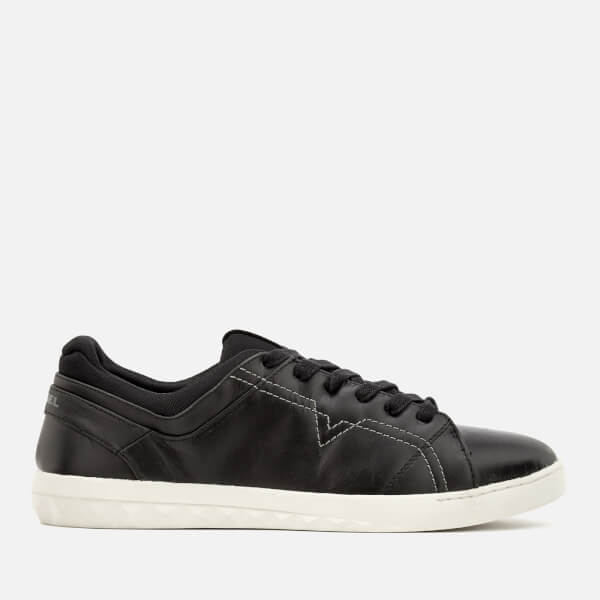 Diesel Men's S-Studdzy Lace Leather Low Top Trainers - Black